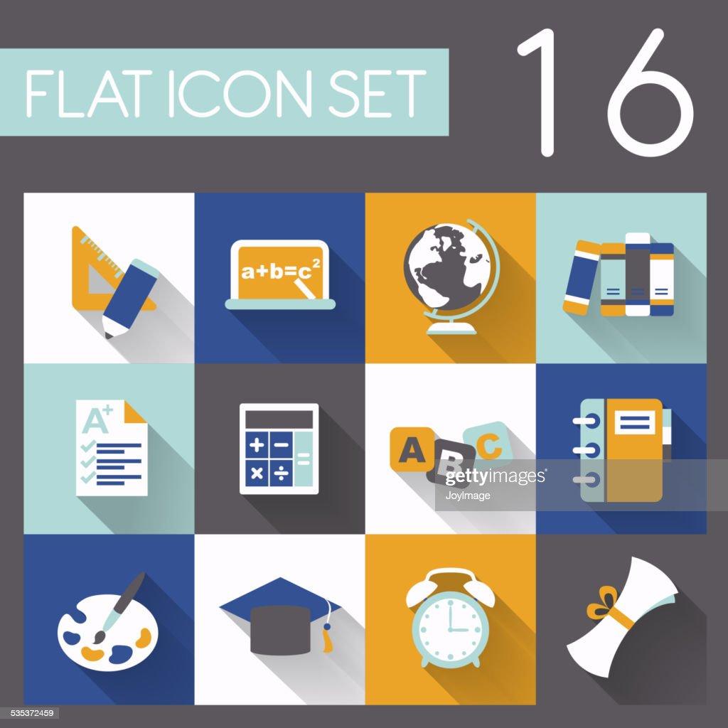 education elements icon set