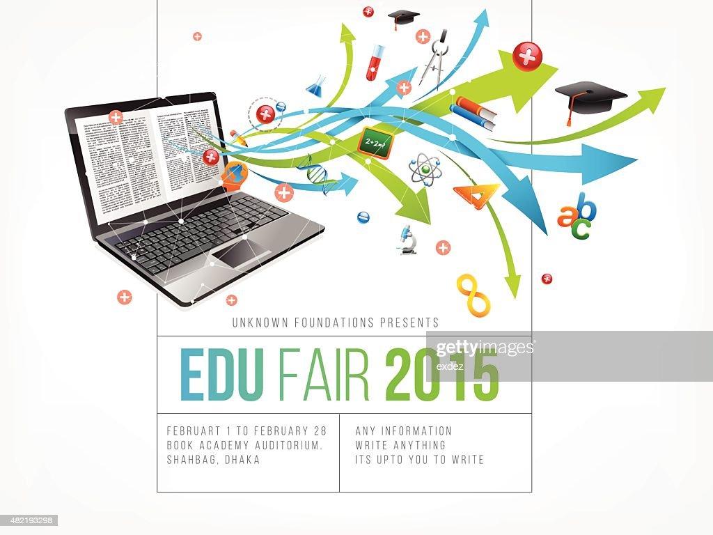 Education fair poster design