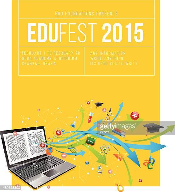 ilustrações, clipart, desenhos animados e ícones de educação festival cartaz - festival tradicional