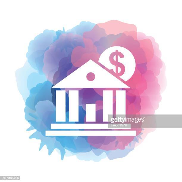 Education Fund icon on watercolor background