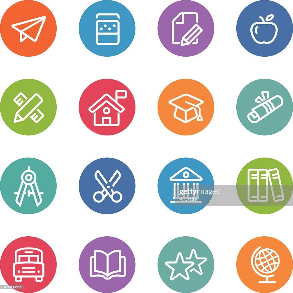 Education Icon - Circle Line Series