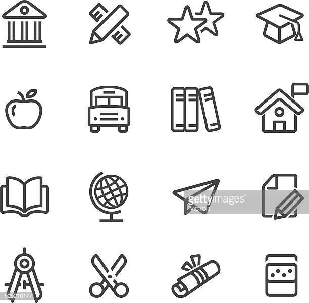 Série icône de l'éducation en ligne