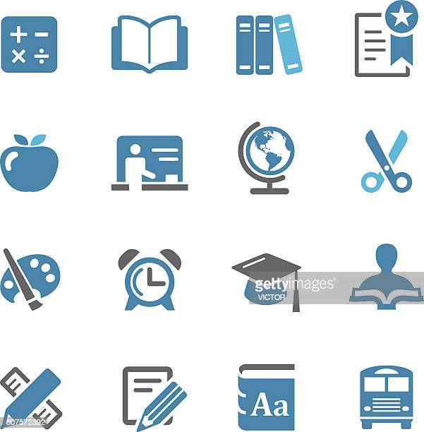 Education Icon Set - Conc Series
