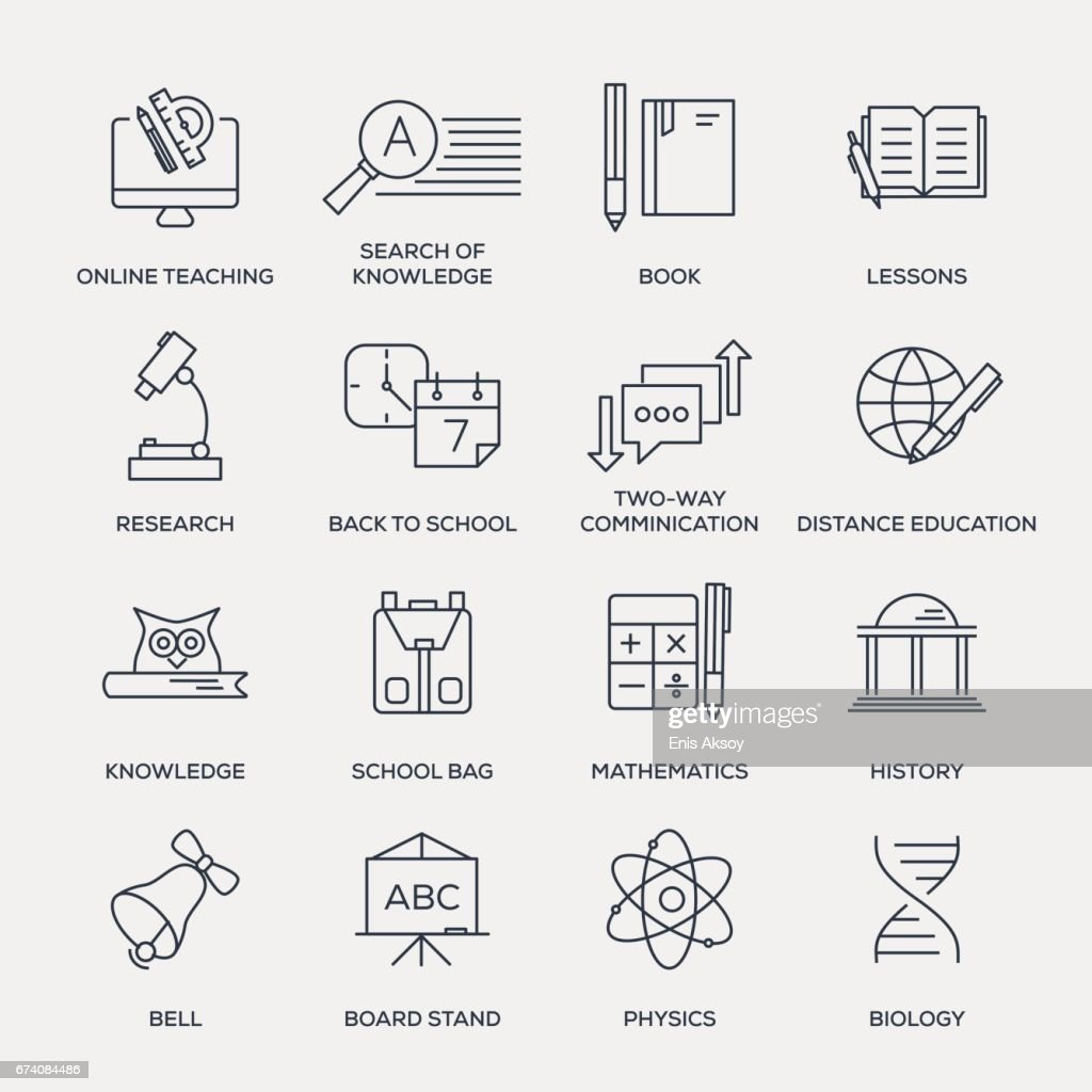 Education Icon Set - Line Series