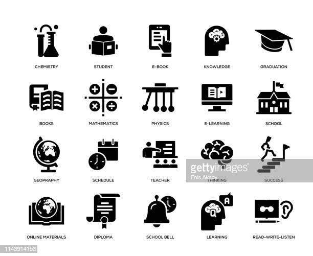 教育アイコンセット - 電子書籍点のイラスト素材/クリップアート素材/マンガ素材/アイコン素材