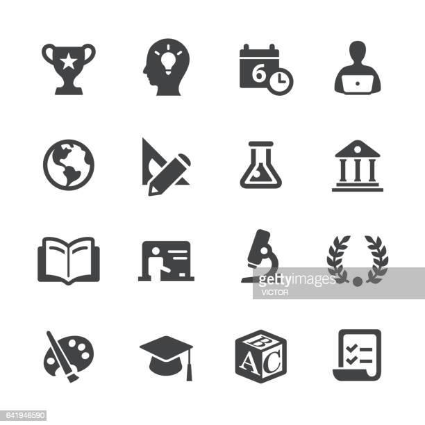 bildung icons-acme series  - literatur stock-grafiken, -clipart, -cartoons und -symbole