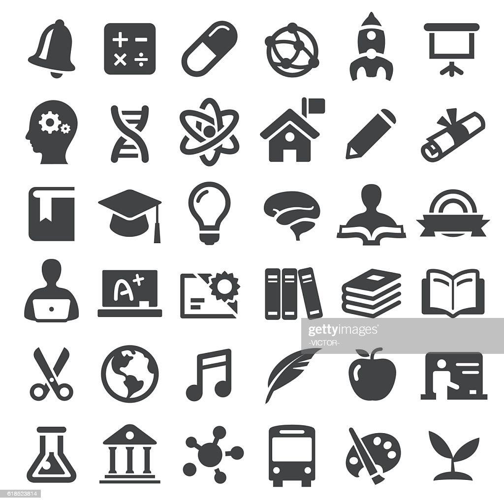 Education Icons - Big Series : stock illustration