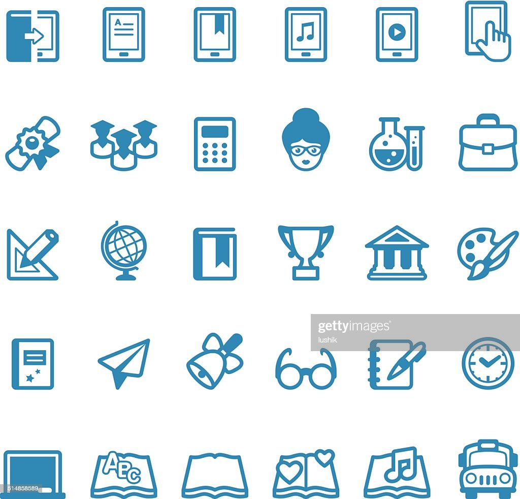 Education icons / Linico series