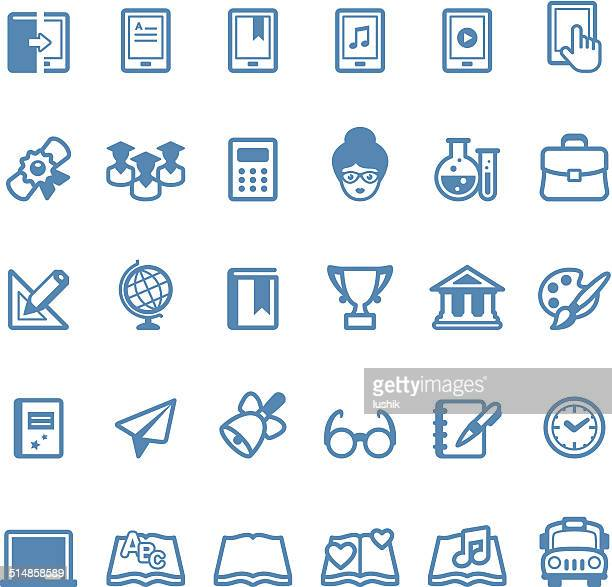 education icons / linico series - publisher stock illustrations