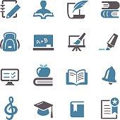 Education Icons Set - Conc Series
