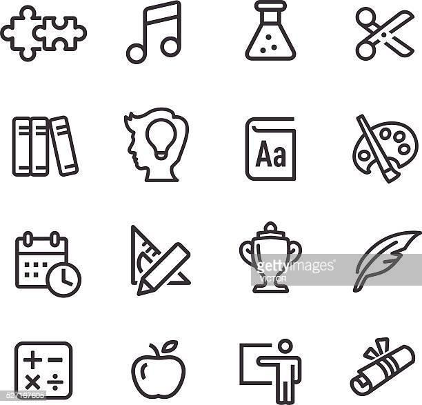 ilustrações de stock, clip art, desenhos animados e ícones de conjunto de ícones de educação-série - matematica