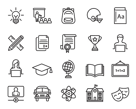 Education Icons Set - gettyimageskorea