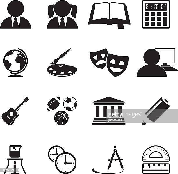 ilustraciones, imágenes clip art, dibujos animados e iconos de stock de iconos de la educación - educacion fisica