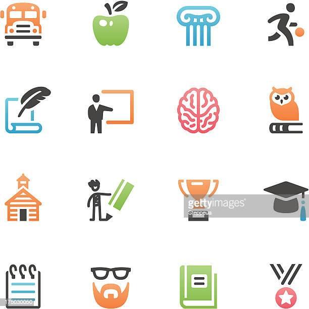 illustrations, cliparts, dessins animés et icônes de icônes de l'éducation - chouette