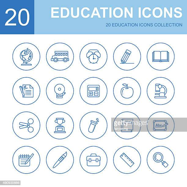 education icons - report card stock illustrations