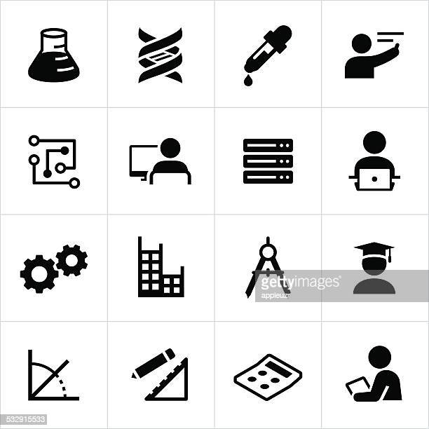stem education icons - plant stem stock illustrations, clip art, cartoons, & icons