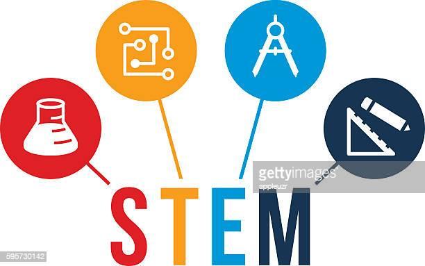 ステム教育のアイコン - 茎点のイラスト素材/クリップアート素材/マンガ素材/アイコン素材