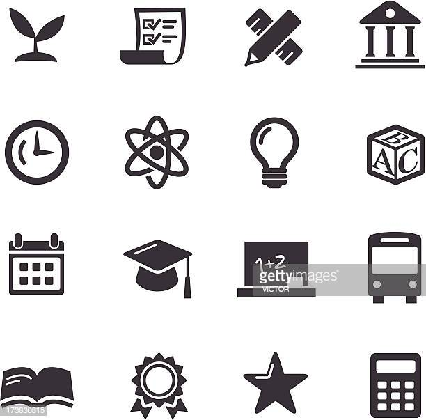 education icons-acme series - the_writer's_block stock illustrations