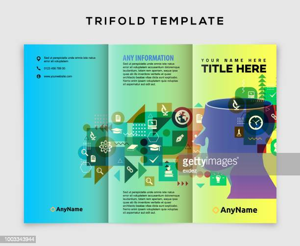 trifold brochure vector art and graphics getty images