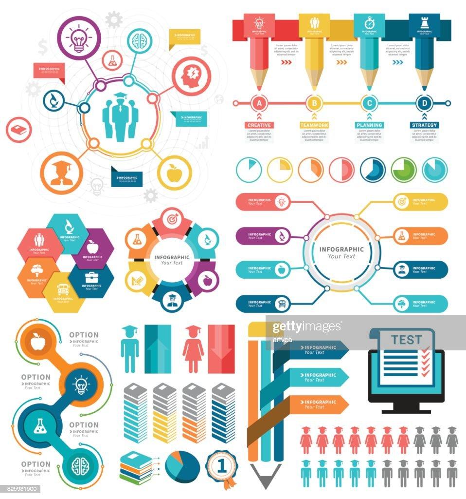Education Infographic Elements : stock illustration