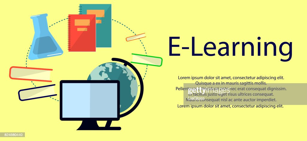 Education infographic. Flat vector illustration for e-learning and online education.