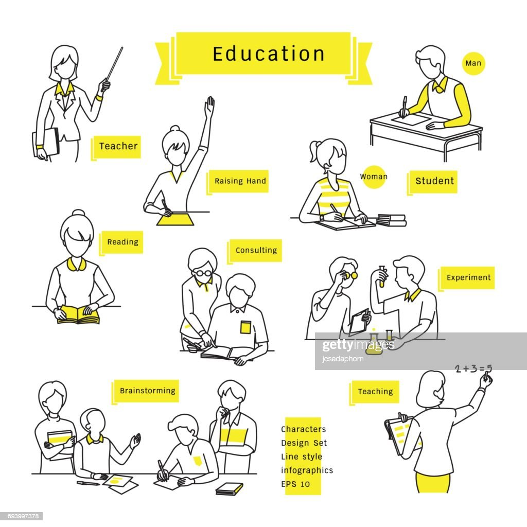 education infographic set