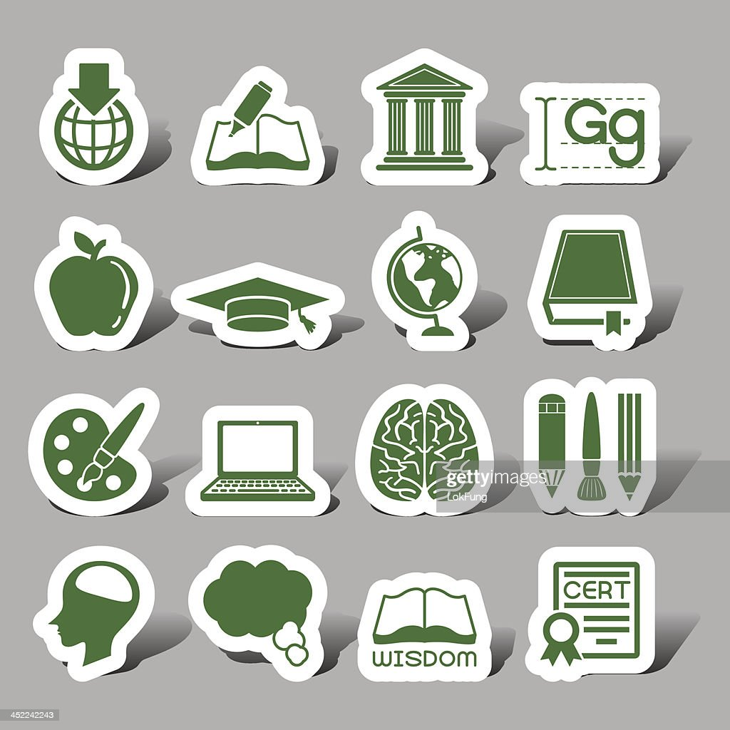 Education interface icons