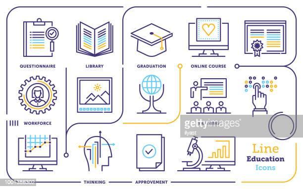 Education Line Icon Set