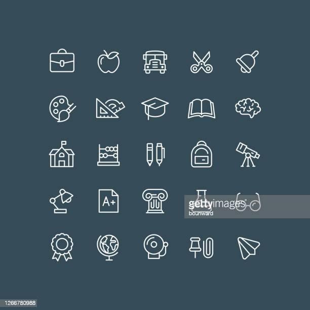 education line icons editable stroke - reading glasses stock illustrations