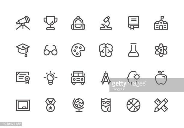 education - line icons - team sport stock illustrations