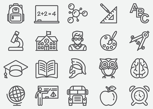 Education Line Icons - gettyimageskorea