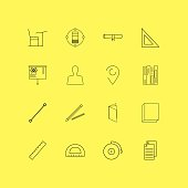 Education linear icon set. Simple outline icons