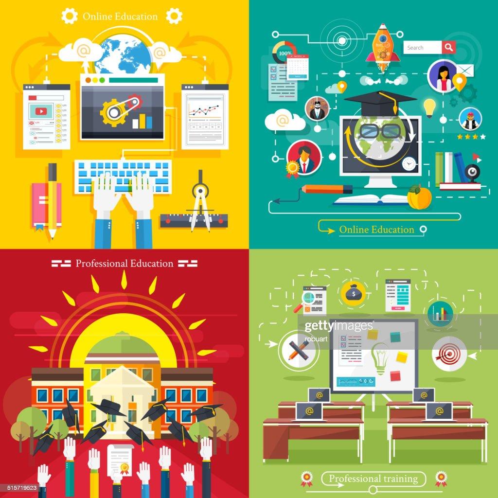 Education, online education, professional education