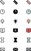 Education Outline, Filled and Colored Icons 15