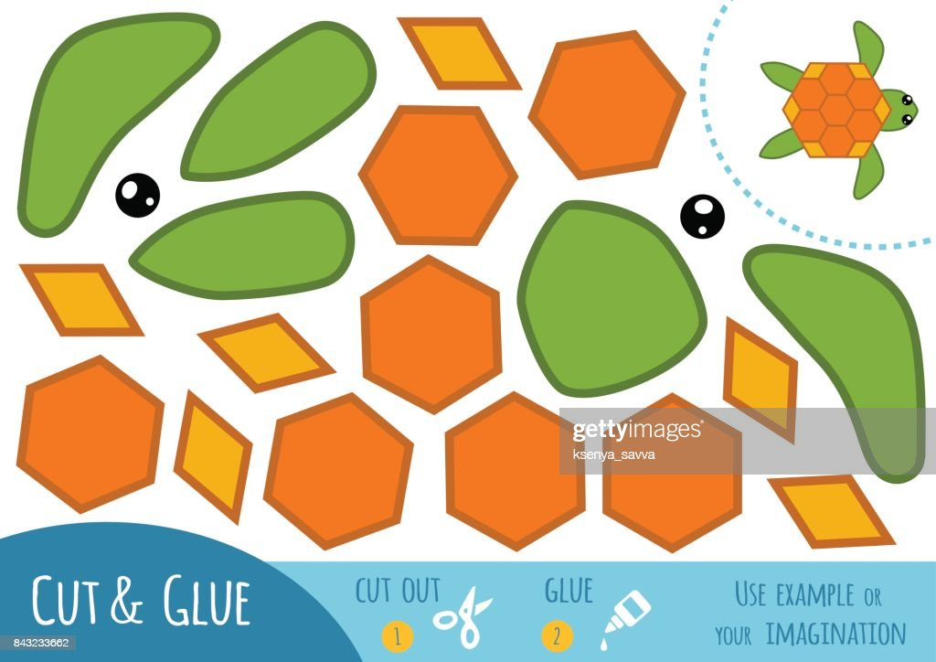 Education paper game for children, Turtle