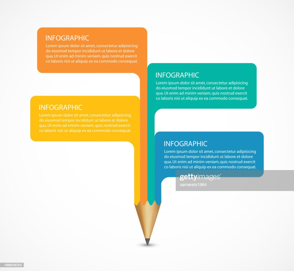 Education pencil option Infographics design element.