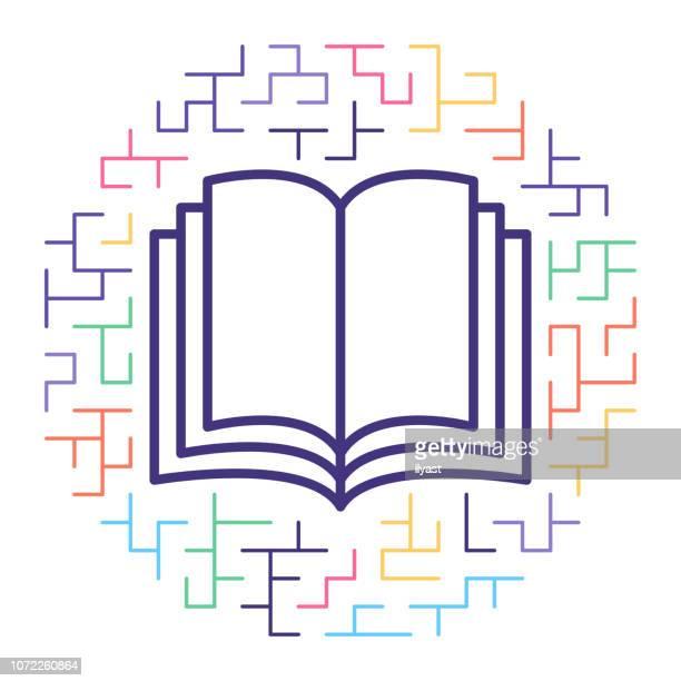 教育ポリシー ライン アイコン イラスト - 法的手続点のイラスト素材/クリップアート素材/マンガ素材/アイコン素材