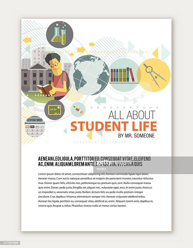 Education print template : stock illustration