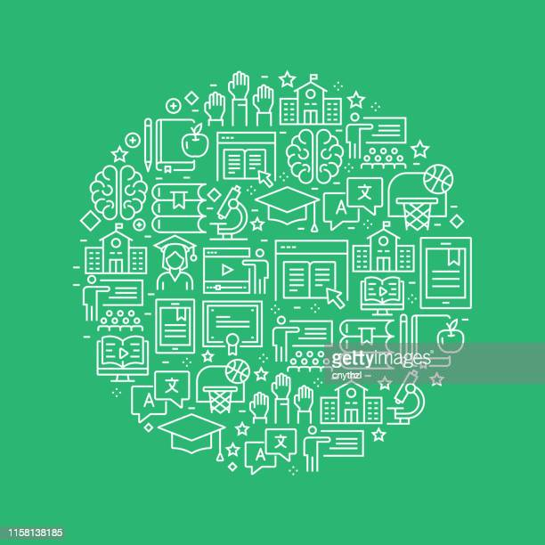 education related pattern design - education stock illustrations