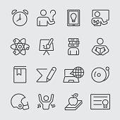 Education set line icon