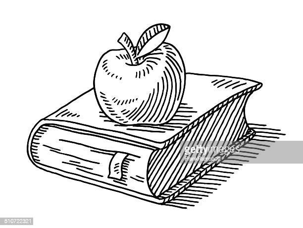 Education Symbol Apple Book Drawing