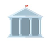 Education Temple Vector Icon