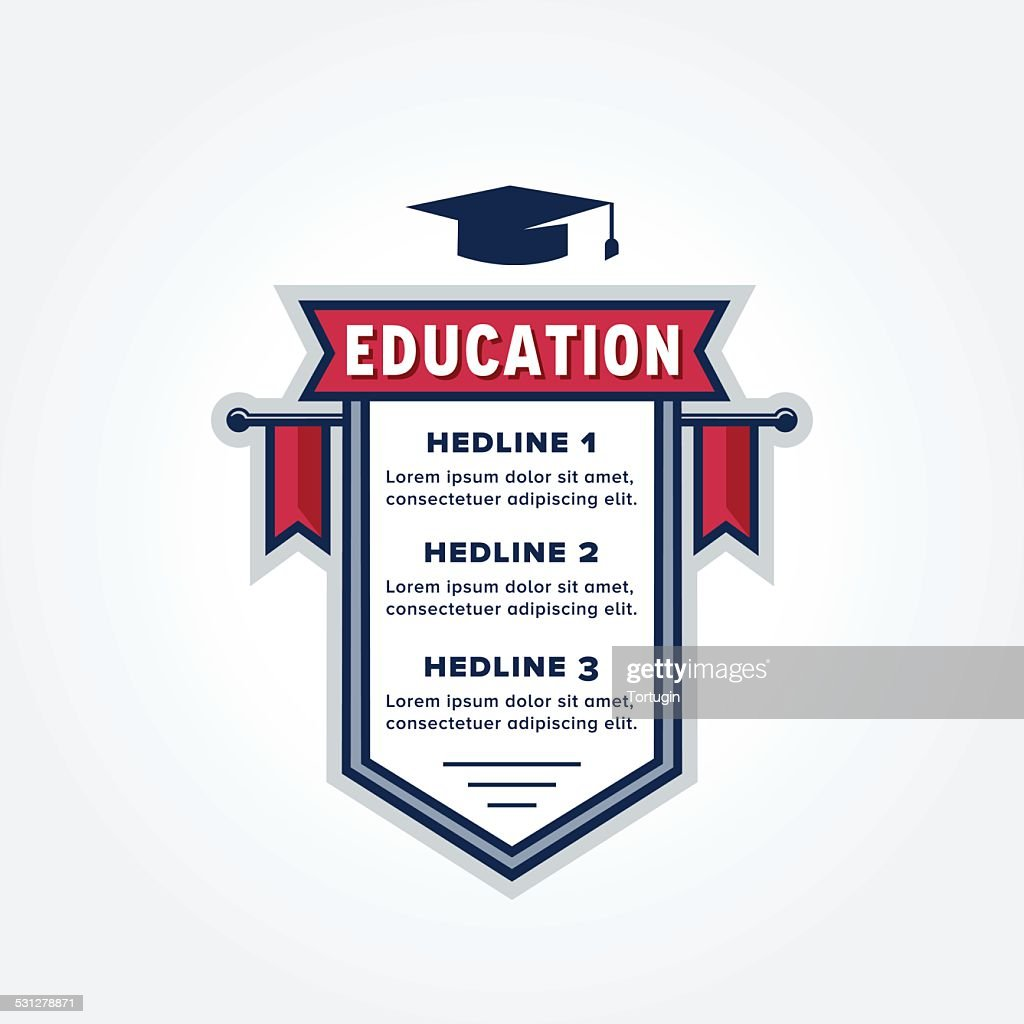 Education Themed Infographic Badge Design