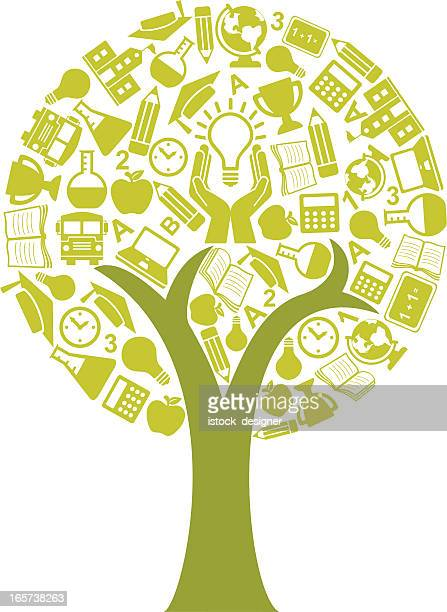 education tree concept - istock images stock illustrations