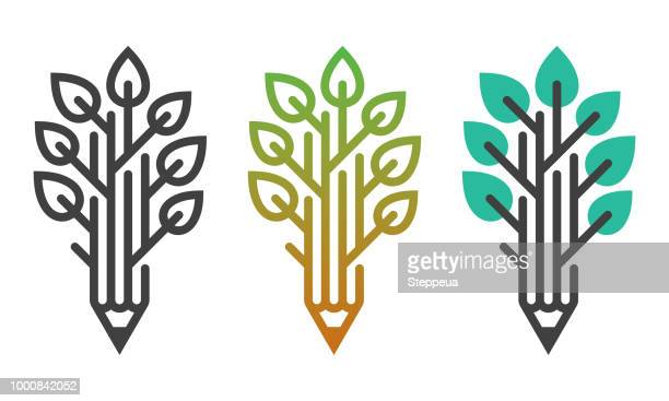 education tree - tree stock illustrations, clip art, cartoons, & icons