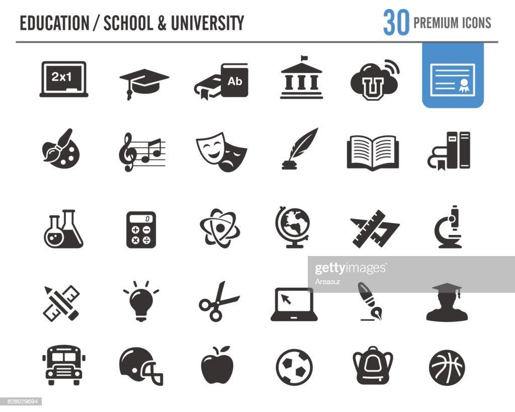 Bildung-Vektor-Icons / / Premium-Serie : Stock-Illustration