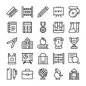Education Vector Line Icons 1