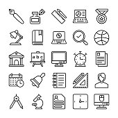 Education Vector Line Icons 2