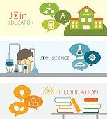 Education webinar banner set