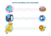 Educational printable games for the development of fine motor skills in kids